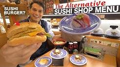 Japanese Conveyor Belt Sushi Menu ー Cheese Burgers, Steak, Ramen? ★ ONLY in JAPAN