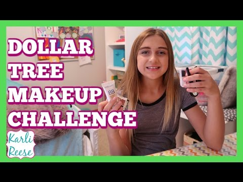 DOLLAR TREE STORE  FULL FACE MAKEUP CHALLENGE