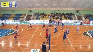 Кваліфікаційний раунд Чемпіоната Європи - 2018 U20 Чоловіки. Хорватія - Україна