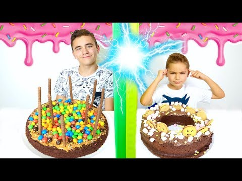 Twin Telepathy Cake Challenge !!! - Swan VS Néo