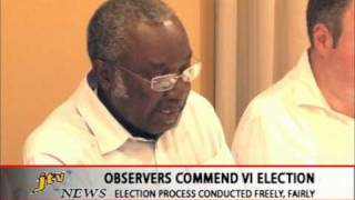 OBSERVERS COMMEND VI ELECTION