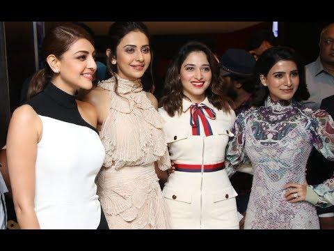 Download Samantha, Tamanna, Kajol Aggarwal, Rakul Preet Singh at Captain Marvel Promotions