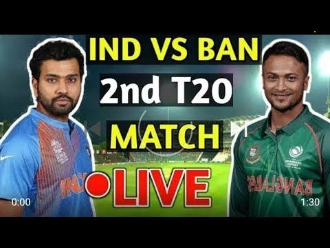 Live Match: India Vs Bangladesh 2nd T20 | Cricket Highlights 1st Inning