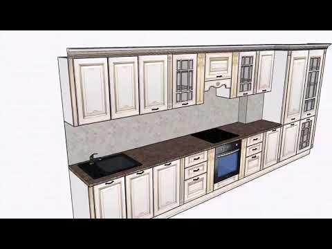"""Кухня под заказ из массива Дуба.Эксклюзивный дизайн проект кухонного гарнитура """"Henry 1"""""""