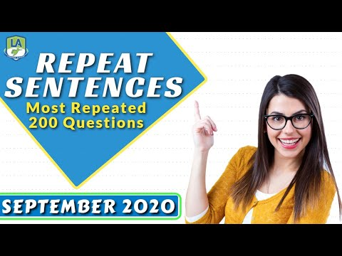 PTE Repeat Sentences September 2020 | Most Repeated 200 Questions | Language Academy PTE NAATI IELTS