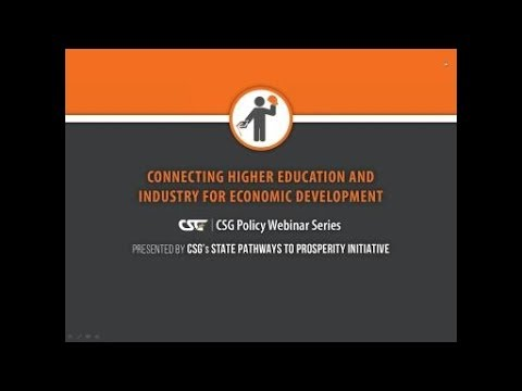 Connecting Higher Education and Industry for Economic Development