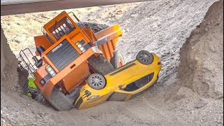 RC Truck Fun at RC-Glashaus! Caterpillar! Porsche!