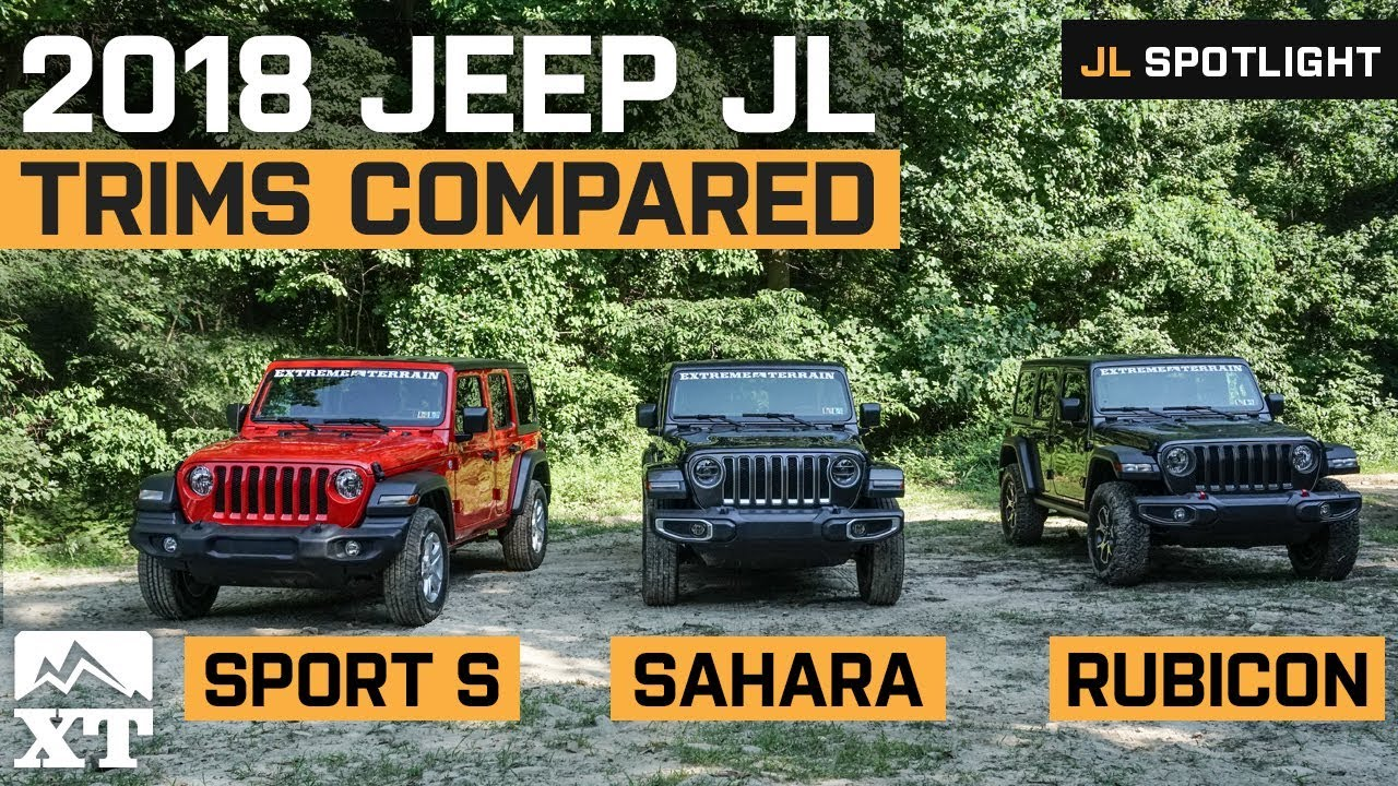 Difference Between Wrangler Models >> 2018 Jeep Wrangler Jl Trims Explained Differences Between Sport