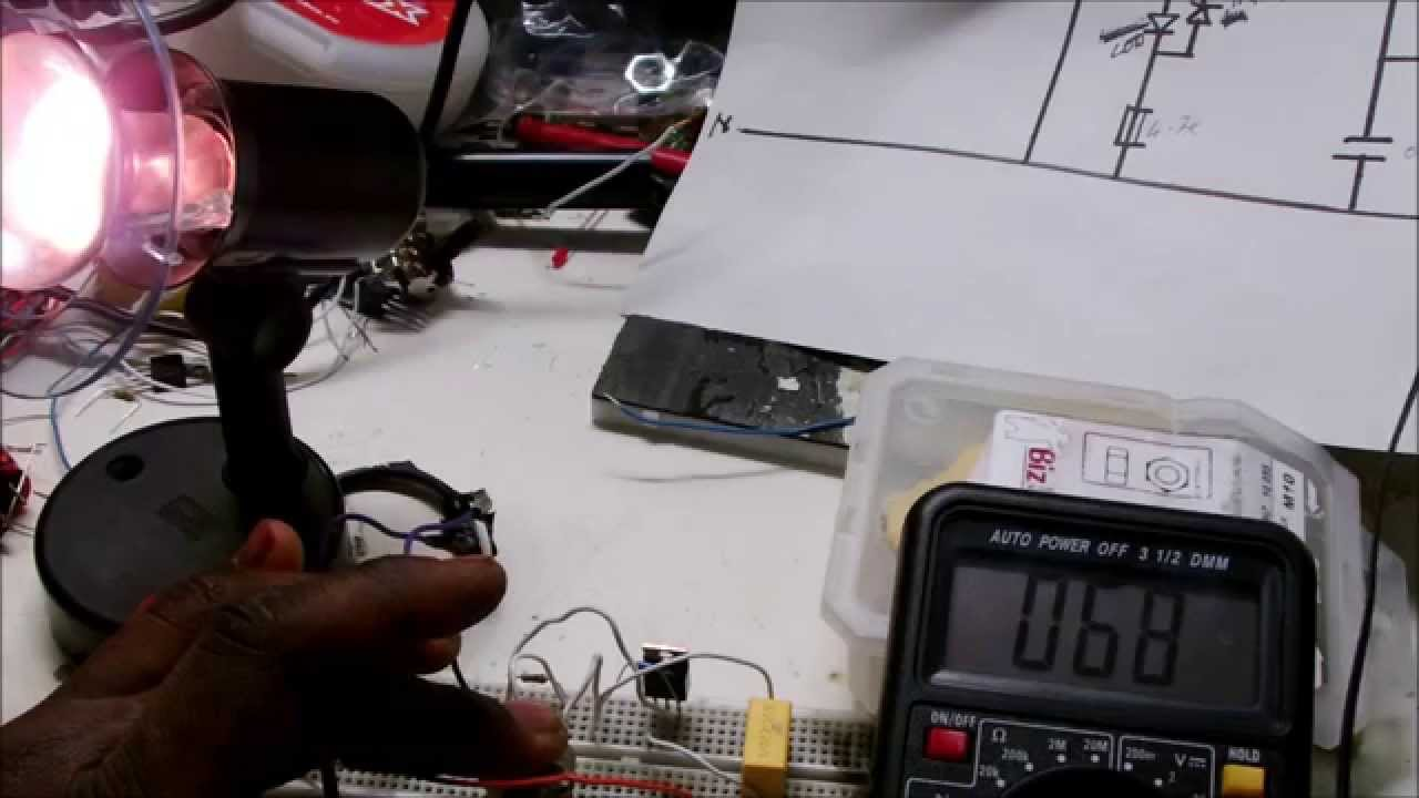 Light Dimmer Circuit Using Triac 1 Youtube Basic Control That Uses An Sbs Diagram