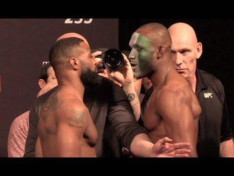 UFC 235 Ceremonial  Weigh-In: Tyron Woodley Vs Kamaru Usman