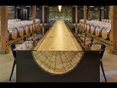 Как делают обеденные деревянные столы