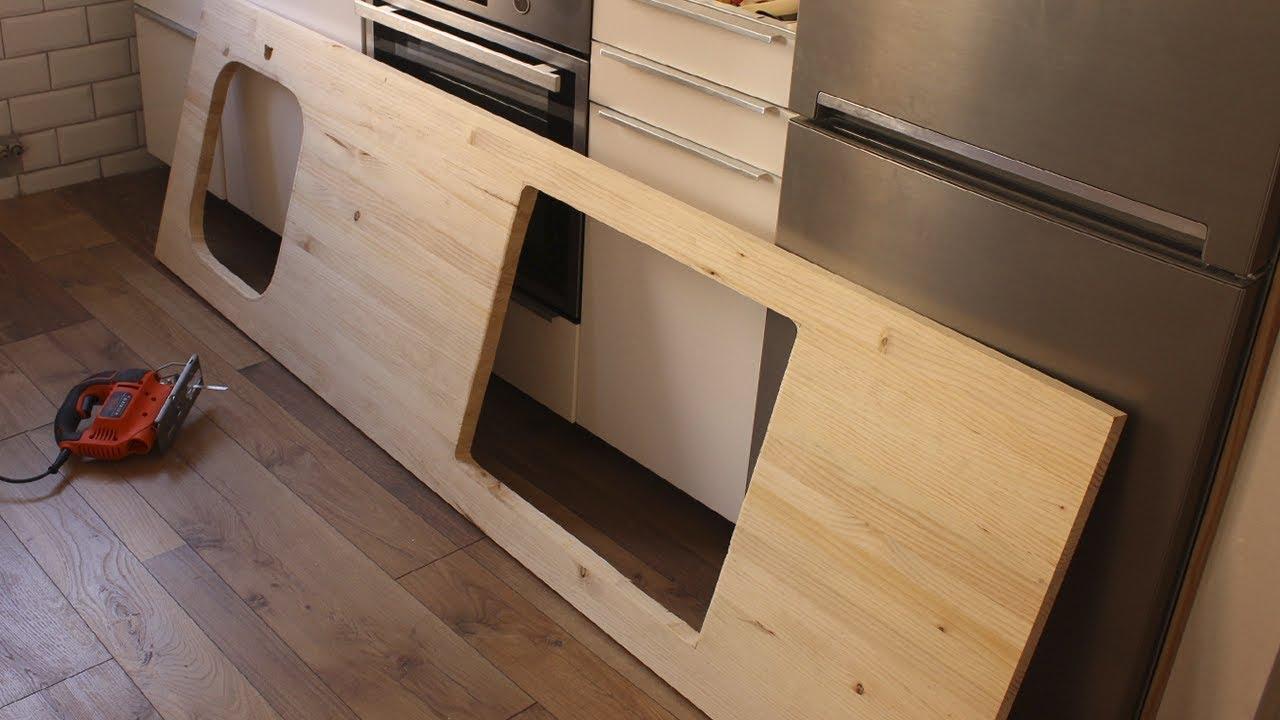 C mo cambiar encimera de cocina sin obra youtube for Cambiar puertas interior sin obra