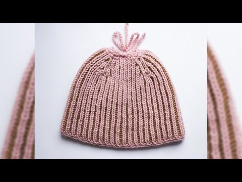 Messy bun hat Brioche Knit Wika crochet