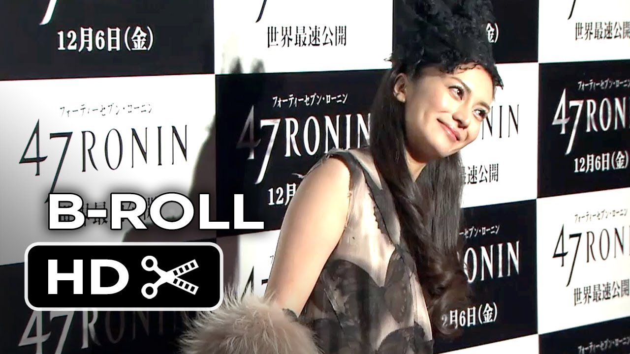 47 Ronin Japanese Premiere Red Carpet B-ROLL (2013) - Keanu Reeves Movie HD