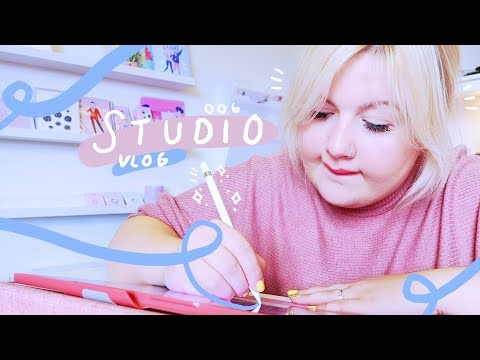 STUDIO VLOG 006: Packing Orders | Preparing Etsy Business for Holiday | Designing a Etsy Banner