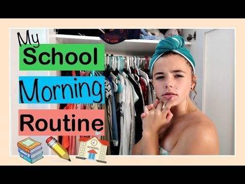 MY SCHOOL 🌞 MORNING ROUTINE | Flippin' Katie