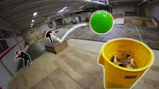 CRAZY INFLATABLE BALL TRICK SHOTS 2!