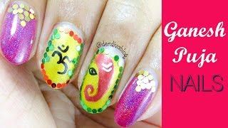 Ganesh Chaturthi / Indian Festival Nail Art Makeup