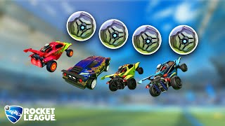 Rocket League freestylers with 4 balls at once (new insane challenge)