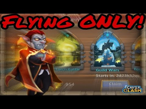 Castle Clash: Guild Wars 2/23/17 - Flying Only Heroes!