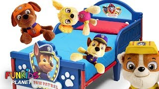 Paw Patrol Pups Play 5 Little Monkey on the Bed Nursery Rhymes