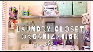 How I Organize My Small Laundry Closet! +TIPS, TRICKS & HACKS!!