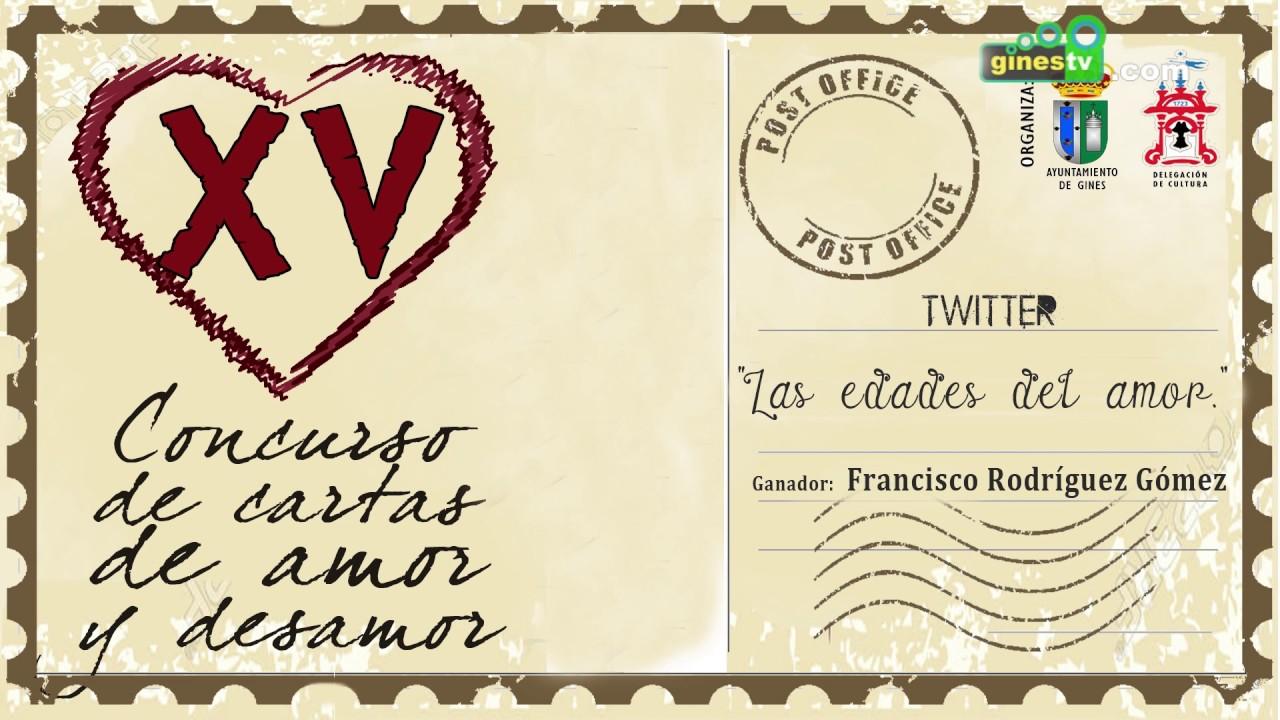 Concurso de Cartas de Amor y Desamor de Gines 2017 - Ganador categoría Twitter