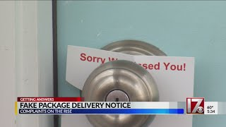 Missed package delivery scam can leave you unwanted charges