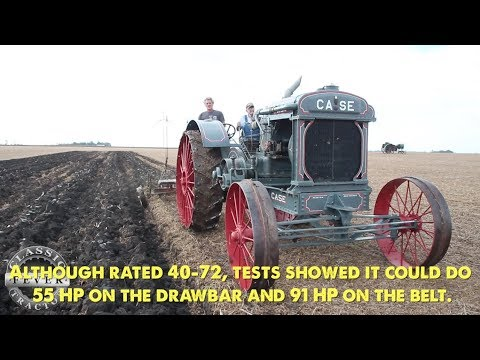 Plowing With The Model 40-72 Gas Tractor - Largest Cross Motor Tractor J. I. Case Built!
