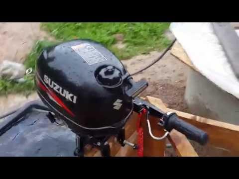 Лодочный мотор Сузуки 2,5. Тест шумности, обзор, обкатка