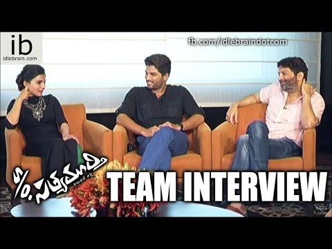 S/o Satyamurthy Team Interview - Allu Arjun, Upendra, Samantha, Nitya Menen, Adah Sharma