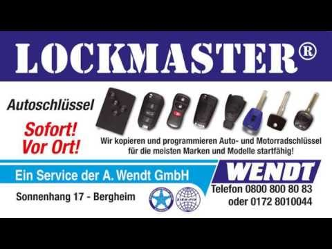 lockmaster lassen sie bei uns neue autoschl ssel nachmachen youtube. Black Bedroom Furniture Sets. Home Design Ideas