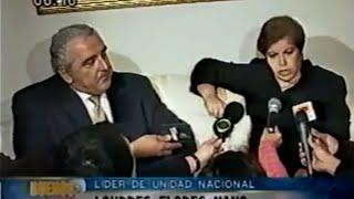 Lourdes Flores Nano se reúne con el primer ministro Roberto Dañino (2001)
