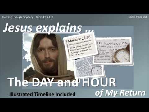 JESUS RETURNS 008 Jesus explains … The DAY and the HOUR of My Return!
