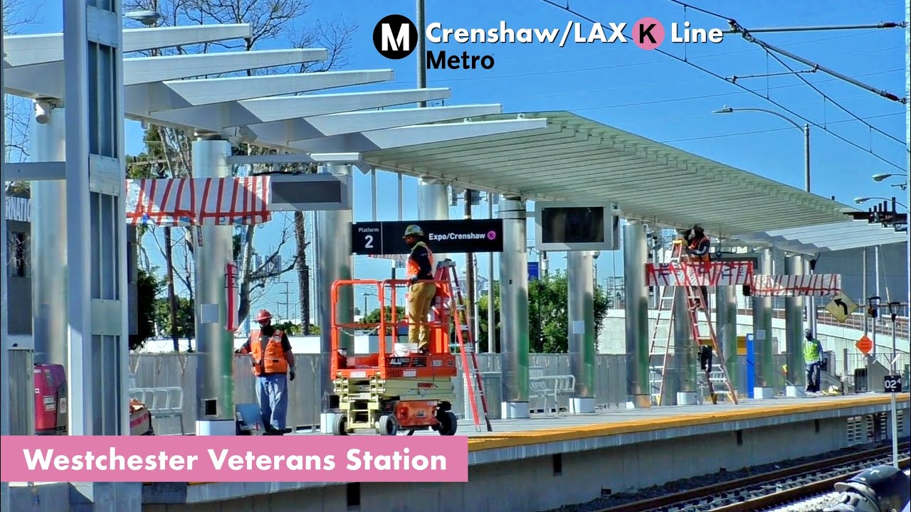 LA Metro Crenshaw/LAX K Line | Westchester/Veterans Station Construction -  YouTube