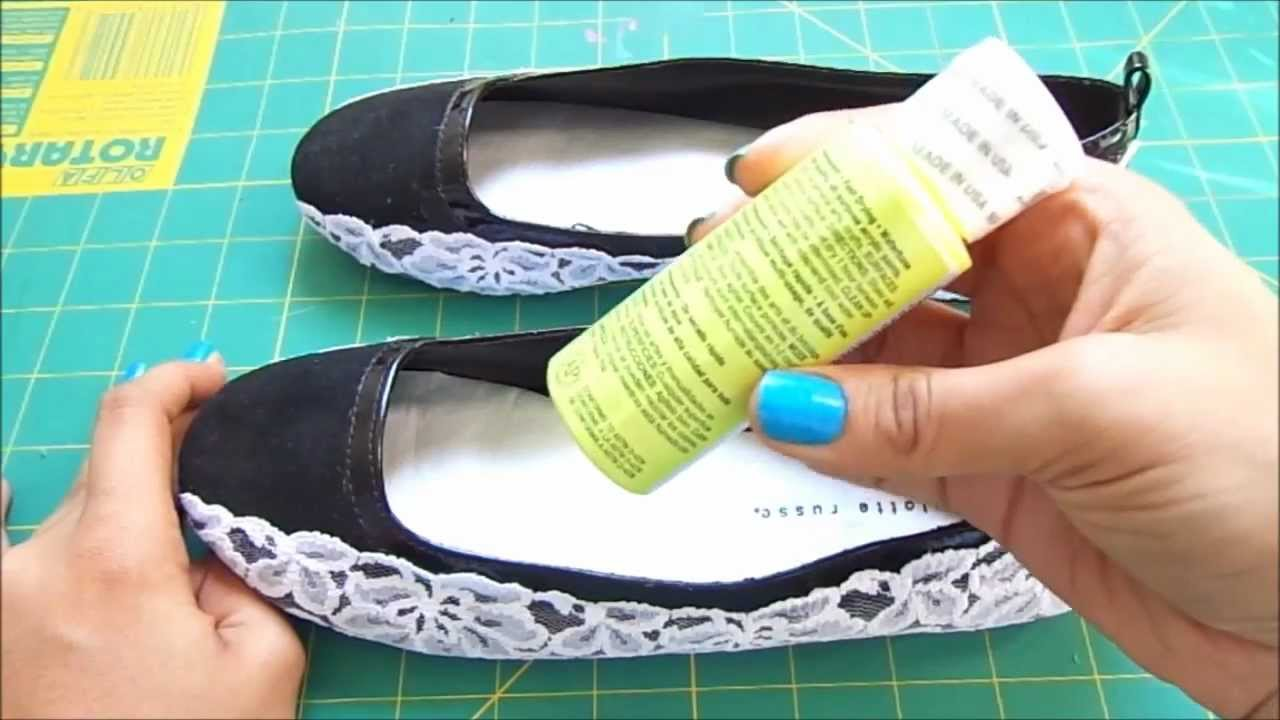 DIY Flats Makeover Using Lace And Paint