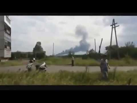 LIVE FOOTAGE: Malaysia Airlines MH17 plane crashes in Ukraine, Russia (LEAK VIDEO)