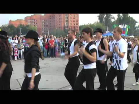день города Домодедово 2012 флешмоб на площади