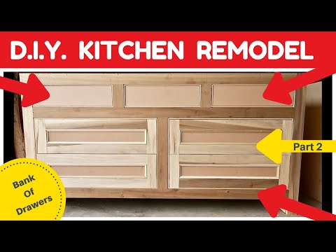 DIY Kitchen Remodel – Bank of Drawers – Part 3