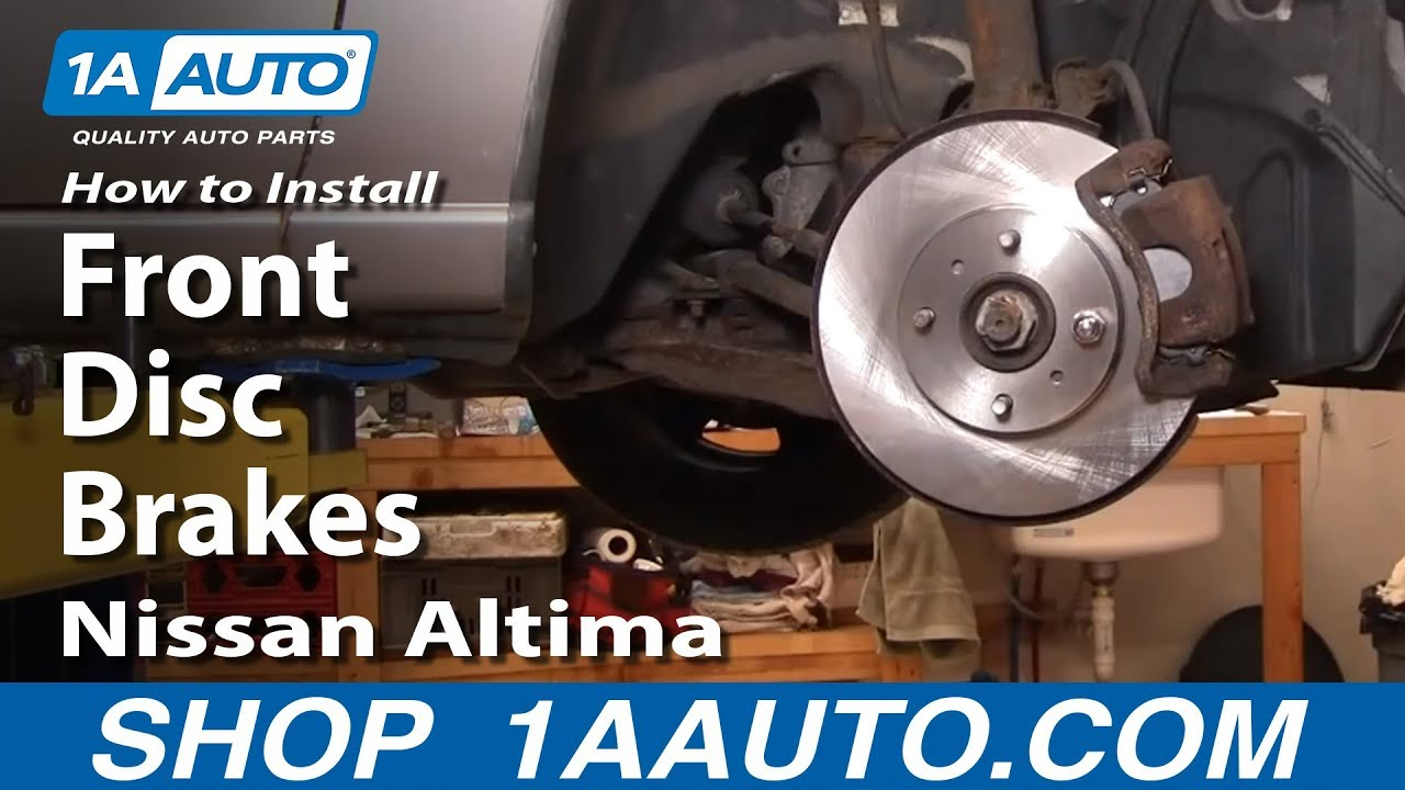 How To Install Replace Front Disc Brakes Nissan Altima 98 ...