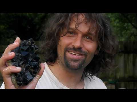 FOUND! Dark purple Amethyst crystal cluster dug from the ground at night! The Crystal Collector