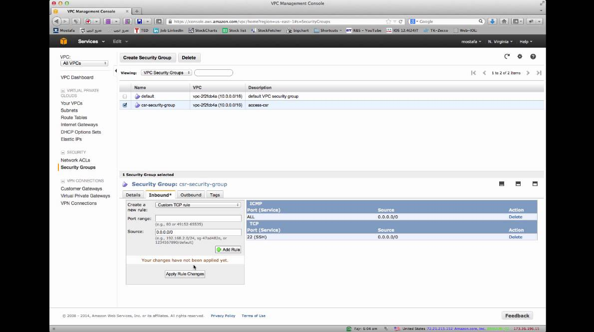 Setting up the CSR1000V in Amazon AWS