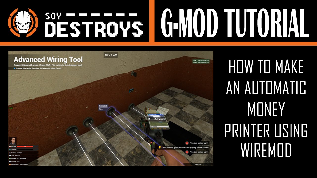 Garry's Mod - Tutorial - How To Make An Automatic Money Printer Using on electric money, gasoline money, marilyn monroe money, boss money, japan money, solar money,