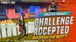 Challenge Accepted Solo vs Squad - Garena Free Fire- Total Gaming