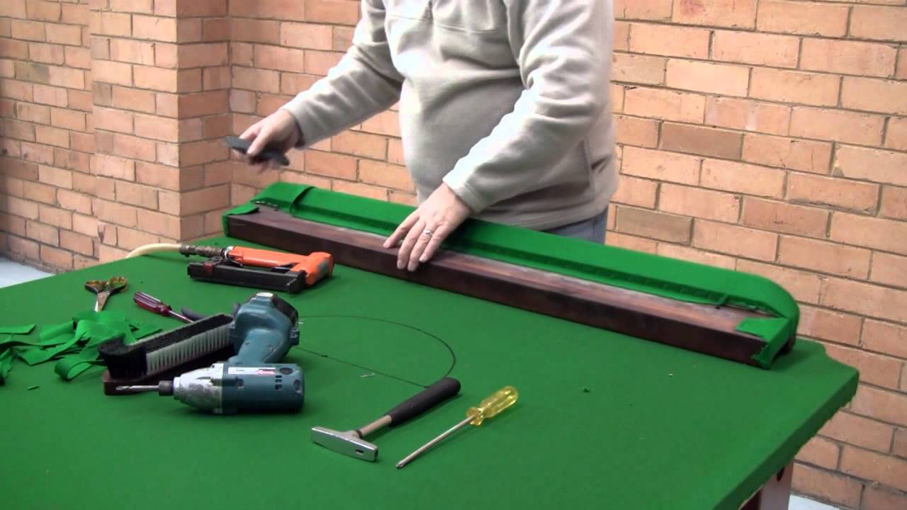 How To ReCloth A Pool Snooker Table Part F YouTube - Reclothing pool table