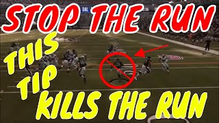 ERASE YOUR OPPONENTS RUNNING GAME W THIS TIP. HOW TO STOP THE RUN IN MADDEN 19