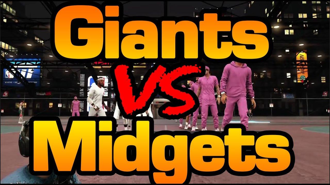 NBA 2K17 MIDGETS VS GIANTS MYPARK CHALLENGE - YouTube