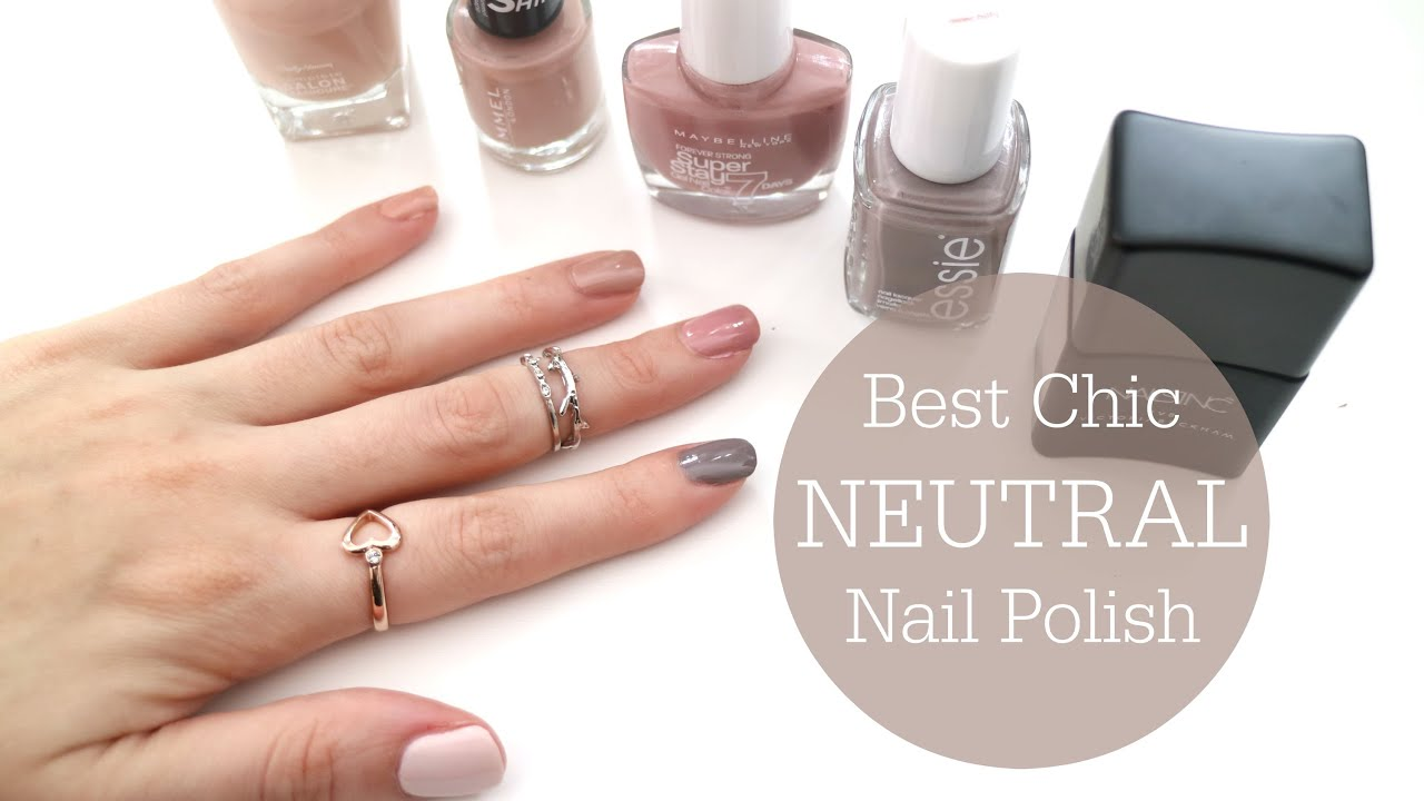 BEST Chic Neutral Nail Polishes // Top 5 // Rachael Jade - YouTube