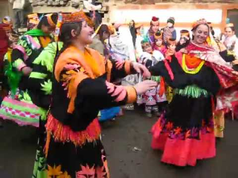 Kalasha girls are dancing on a special event.