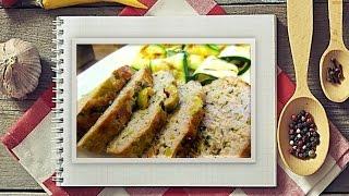 Мясной хлебец с зелеными оливками.
